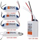 LED Strip Lights Power Supply Driver Transformer Adapter AC90V-240V to DC12V