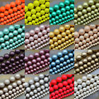 """Wholesale Top Sea Shell Pearl Matte Round Beads 16"""" 4mm 6mm 8mm 10mm 12mm"""