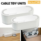 Cable Wire Tidy Cover 6 4 Way Extension Lead Management System TV AV DVD - White