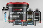 MATRIX MONSTER PROTEIN BUNDLE - MASS GAINER - 5 FREE ITEMS - 4KG PROTEIN -