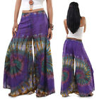 Pants Skirts Pants Tie-Dyed purple Rayon Fabric Free size Tie Dyed Hippie Hippy