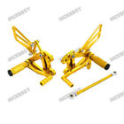 CNC Adjustable Rearsets Foot Pegs Footrests for Kawasaki Ninja ZX-6/ZX-6R/ZX-9R