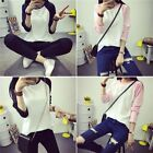 New Women's Long Sleeve Sweatshirt Loose Casual Pullover Tops Round Neck Blouse