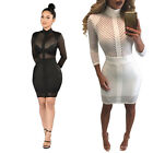 Sexy Women Bandage Bodycon Long Sleeve Fashion Casual Slim Fit Tight Party Dress