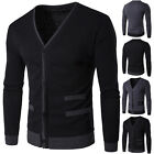Mens Fashion Slim Knitwear Cardigan Tops Knit Sweater Jacket Coat Outwear New