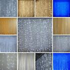 BACKDROP 20ft x 10ft Organza LED Lights Photo Background Party Decorations SALE
