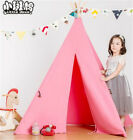 Kids Tent Teepee Play Hut Indoor Children Outdoor Playhouse Indian Canvas House