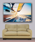 "Sailing boat on open ocean in sunrise Huge canvas art giclee print 30""x40"""