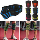 NEW Gym Sports Elastic Knee Wraps Men's Weight Lifting Bandage Straps Guard Pads