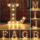 "NEW 6"" Light Up Wooden Letters LED Alphabet Night Wedding Vintage Name"