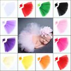 Newborn Baby Girls Headband Crochet Knit Tutu Skirt Costume Photography Outfits