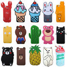 Soft Silicone 3D Cartoon Cute Fashion Animals Case Cover Back Skin For iPhone
