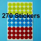270 Smile Angry Sad Happy Face Stickers 14mm Round Teacher Labels Reward School