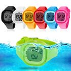 Fashion LED Waterproof Electronic Sport Digital Wrist Watch For Child Girls Boys image