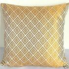 """Cushion Cover Chinese Brocade Pillow Case """"Pale Gold Diamond on Wht""""S- Large"""