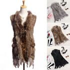 Woman 2017 Real Rabbit Fur Vest Jacket Coat Women 3 Colors Winter Warm Vests