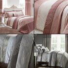 LUXURY SILK SEQUIN GATSBY BLUSH PINK CREAM SILVER BEDSPREAD BED THROW COVER
