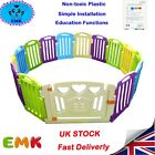 Side Plastic Playpen Mixed Colors Baby Playpen Education Functions&Game Panel