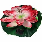 Solar Floating Water Lilies For Ponds Or Pools Low Maintenance Attractive Design