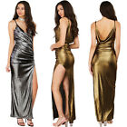Women Bandage Bodycon Sleeveless Leather Club Cocktail Evening Party Long Dress