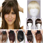 US Lady Clip in Clip on Bangs Fringe Hair Extension Black Brown Hairpiece hg29