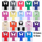 White Collar & Cuffs Mens Dress Shirt by Berlioni 19 Colors Available Retail $69