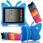 Cute Kids Butterfly Rubber Shockproof Foam Stand Case Cover for iPad Air Mini