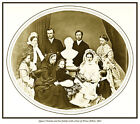 QUEEN VICTORIA AND FAMILY WITH BUST OF PRINCE ALBERT PRINT. QUEEN ALEXANDRA