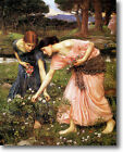 HUGE WATERHOUSE Gather Ye Rosebuds Stretched Canvas Giclee Repro Print ALL SIZES
