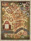 Map of Harvard University Radcliffe College Cambridge Massachusetts Wall Poster