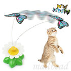 Pet Cat Kitten Toys Electric Rotating Birds Butterfly Rod Cat Teaser Play Toy