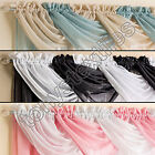 Tyrone - Glitter Net Voile Swag Decorative Pelmet with Rod Pocket - 8 Colors