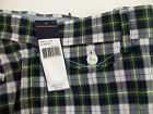 Polo Ralph Lauren Flat Front Shorts  $79 Slim GI Fit Blue Green Yellow Plaid NWT