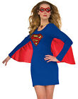 Adult Womens Supergirl Dress And Cape Halloween Costume