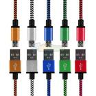 3Pcs Braided Aluminum USB Charger Cable Data Sync Charge Cord For Android Phone