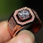 Sz8-13  Luxury Jewelry Pave9 25 Silver AAA CZ Rose gold plated Wedding Men Ring