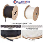7MM ROUND POLYPROPYLENE ROPE BRAIDED POLY CORD SAILING CAMPING BOATING PULLEY