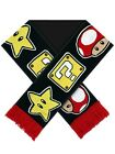 Nintendo Mushroom, Star & Question Mark Black Scarf