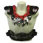 HRP Flak Jak IMS Red Clear MX Enduro Offroad Riding Chest Guard Roost Protector
