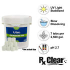 "Rx Clear 1"" Stabilized Swimming Pool Chlorine Tablets (Various Sizes)"