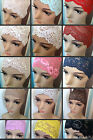 LADIES LACE NET  HIJAB UNDERSCARF HEADBAND WIDE LACE NEW DESIGNS