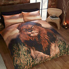 Safari Animal Lion Photographic Print Duvet Cover Set - Novelty Bedding Design