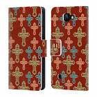 HEAD CASE DESIGNS CROSS PRINTS LEATHER BOOK WALLET CASE COVER FOR LG K3 K100