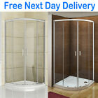 Aica Quadrant Shower Enclosure & Tray Glass Corner Cubicle Screen Door