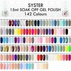 SYSTER NEW 125 Colours 15ml Nail Art Soak Off Gel Polish Manicure UV / LED Lamp