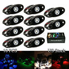 10pcs White Blue Green Red LED Rock Light Offroad Truck Car ATV Jeep Under Wheel