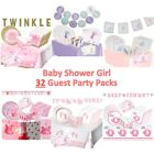 32 Guest Baby Shower Girl - Party Packs includes Decorations, Games, Tableware