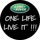 GREEN LAND ROVER BADGE ONE LIFE LIVE IT WHEEL COVER PRINTED STICKER