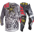 NEW 2018 FLY RACING KINETIC ROCKSTAR MESH GEAR COMBO BLACK/WHITE ALL SIZES