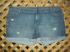 Old Navy Blue Distressed Cotton Denim Jean Shorts Plus Size 24 NEW!